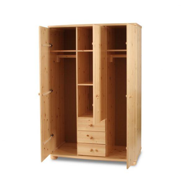 Claudia 3 ajtós 3 fiókos, középen tükrös szekrény