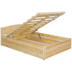 Henrik fenyő ágyneműtartós ágy 90'