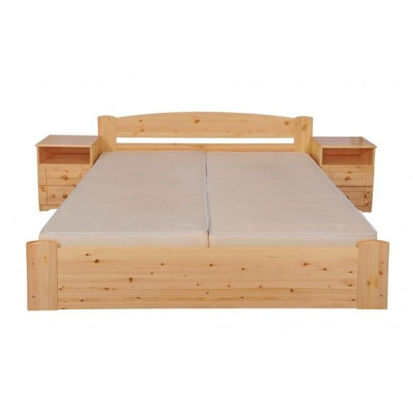 """Sára"""" egyenes """" fenyő ágyneműtartós ágy 140'"""