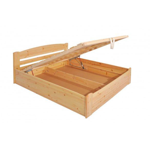 """Sára"""" egyenes """" fenyő ágyneműtartós ágy 90'"""