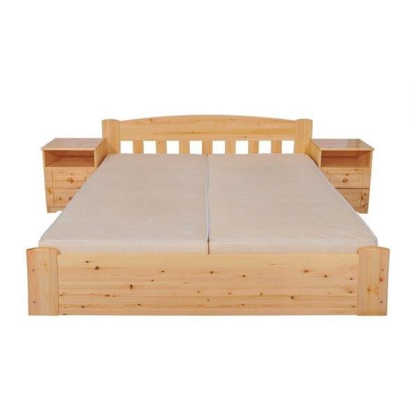 Sára rácsos fenyő ágyneműtartós ágy 140'