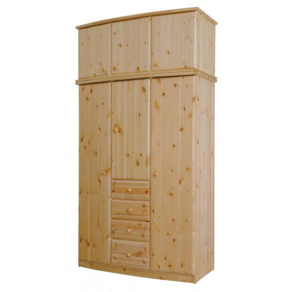 Csanád 3 ajtós íves szekrény magasító
