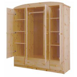 Csanád 4 ajtós 3 fiókos szekrény (lapra szerelt)