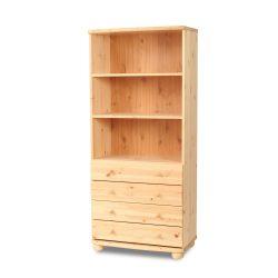Claudia 4 fiókos nyitott polcos szekrény