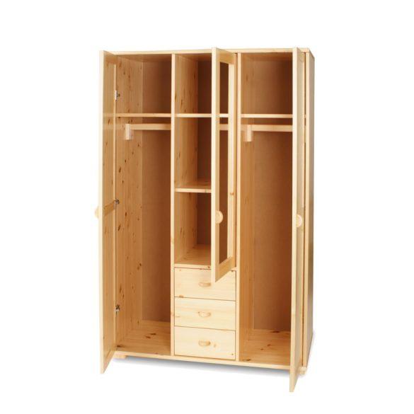 Vanessa 3 ajtós 3 fiókos közepén tükrös szekrény
