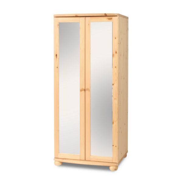 Claudia 2 ajtós akasztós tükrös szekrény