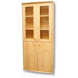 Tamás 4 ajtós vitrines szekrény