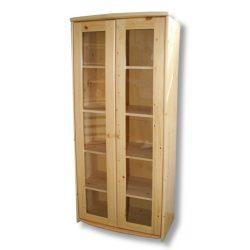 Tamás 2 ajtós vitrines szekrény