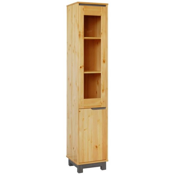 Lexa szekrény 1 ajtós üveges keskeny