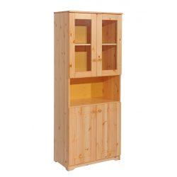 Balázs 2 ajtós nyitott üveges  szekrény