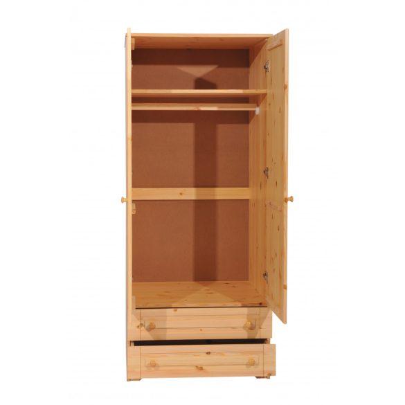 Balázs 2 ajtós 2 fiókos akasztós szekrény