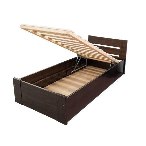 Nobis tömör fenyő ágyneműtartós ágy 90'