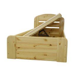 Anikó fenyő ágyneműtartós ágy OLDAL nyílós 90