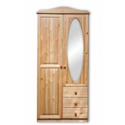 Gold 2 ajtós 3 fiókos ovális tükrös szekrény