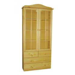 Gold üvegajtós szekrény