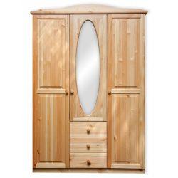 Gold 3 ajtós 3 fiókos ovális tükrös szekrény